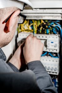 electrical contractors in birmingham testing electrical control board system